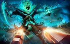 Thresh vs Lucian League of Legends Gevurah_studios
