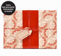 10m roll Pohutukawa Gift Wrap, made in Australia, currently AU$14.95 + postage from InkyCo (AU) #giftwrap #wrappingpaper #floral