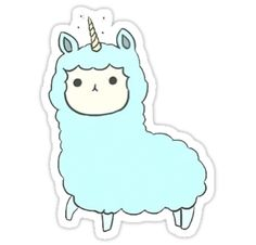 "Llamacorn"" Stickers by cosimacrazy 