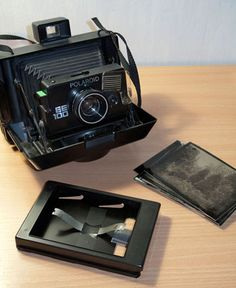 Wet plate collodion with a Polaroid camera