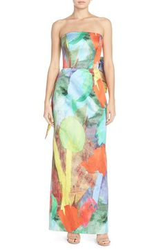 Milly 'Lyla' Floral Print Column Gown available at #Nordstrom
