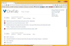 Use this extension to speed up your browser when you have too many tabs open: OneTab