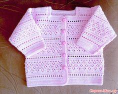 """Como yo estaba tejiendo un suéter """"ternura rosa"""""""