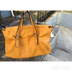 ZARA Mustard Yellow Handbag Super cute & chic • Color is a mustard yellow • Photos taken outside in natural light so color may slightly vary • Can be worn as crossbody, but you will need a strap • DIMENSIONS; 18 inches across  x 11 tall with 7.5 inch strap drop • NO TRADES • Zara Bags Shoulder Bags