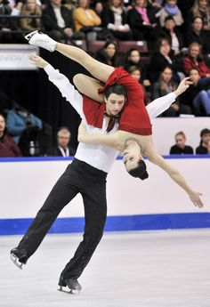 Tessa Virtue and Scott Moir ice dance