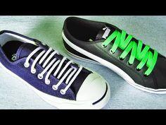 〔靴紐の結び方〕ジグザグしていて面白い靴ひもの通し方 ジグザグ結び how to tie shoelaces 〔生活に役立つ!〕 - YouTube Ways To Lace Shoes, How To Tie Shoes, Fancy Shoes, Cute Shoes, Lace Converse Shoes, Shoe Lacing Techniques, Tie Shoelaces, Cute Pillows, Diy Clothes