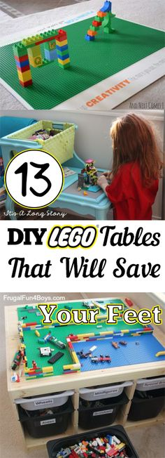 Lego Tables, DIY Lego Table, DIY Lego Table Tutorial, Lego Tables for Less, Kid Stuff, Kid Crafts, How to Organize Kids Playrooms, Playroom Organization, How to Organize Kids Toys, Popular Pin