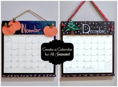 Create a calendar for all seasons with Kim's Calendars! www.blitsycrafts.com
