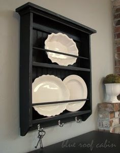 Rustic plate rack... EXACTLY WHAT I WANT!!!