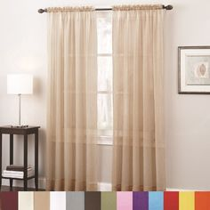 Tyler Textured Sheer Window Curtain