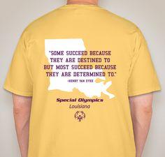 Special Olympics Louisiana: Dance  Fundraiser - unisex shirt design - small - back