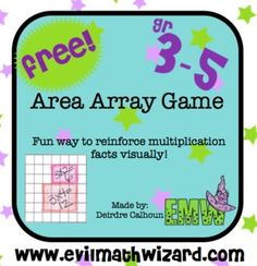 This game teaches or reinforces multiplication arrays. Players take turns rolling the two dice and then coloring on the grid. The last person to fit their array on wins. The file has complete instructions, one variation, plus a grid to print out.