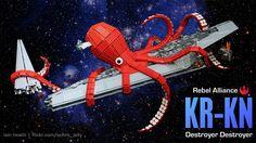 The Rebel Alliances Secret Weapon Is This Giant Space Kraken Lego Star Wars, Star Wars Art, Star Destroyer, Lego Kraken, Best Lego Sets, Release The Kraken, Brick Art, Cool Lego, Awesome Lego