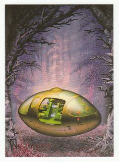 Tim White Fantasy Art Cards # 12 Extraterrestrial Vehicle - FPG - 1994