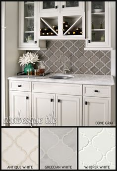 Kitchen Backsplash with White Cabinets. Beautiful Kitchen Backsplash with White Cabinets. Love This Kitchen Kitchen Tile, Kitchen Redo, New Kitchen, Kitchen Dining, Kitchen Ideas, Kitchen Colors, Awesome Kitchen, Decorating Above Kitchen Cabinets, Neutral Kitchen