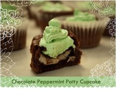 Chocolate York Peppermint Patty Cupcake Recipe