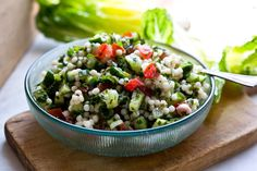 NYT Cooking: Cucumber and Israeli Couscous Salad