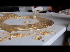 """Интерьерная картина """"БЕСКОНЕЧНОСТЬ"""" - YouTube Gold Leaf Art, Gold Art, Hot Glue Art, Glitter Wall Art, Christmas Craft Fair, Kids Canvas Art, Texture Art, Diy Wall Art, Acrylic Art"""