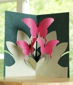 Kirigami Pop-up Cards, Make Yourself (4 patterns included) from popupcardmaking via etsy. These are beautiful!