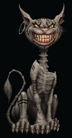Dark, but entrancing. Or creepy. Or awesome. Any way you look at it, the Cheshire Cat from American McGee's Alice is pretty snazztastic.