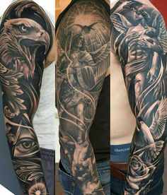 Full Shoulder and Forearm Tattoo Sleeve
