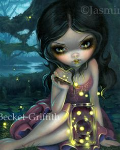 Releasing Fireflies by Jasmine Becket-Griffith