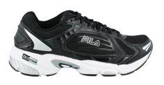 Save $ 16.04 order now Men's Fila, Swerve 3 Running Shoe BLACK / WHITE 10