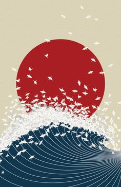 Project Senbazuru is an artistic response to the disaster situation in #Japan. Inspired by Japanese senbazuru exchanging, the Project Senbazuru illustration aims to promote hope and prosperity in the midst of such devastation. 100% of the profits made will go directly to the Japan relief effort (Red Cross and GlobalGiving).