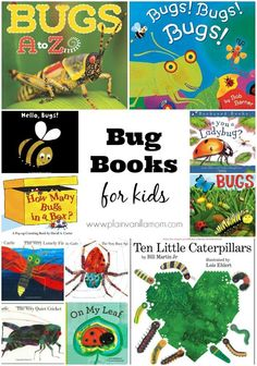 17 Books About Bugs Your Kids Need on Their Bookshelves. Includes Free Printable List to take with you to the library!