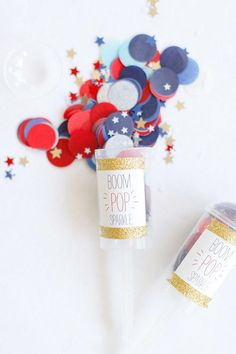 Red, white, and blue confetti is a great substitute for rice | Brides.com
