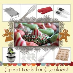 """Candy Cane Blossoms-1 bag Hershey's Candy Cane Kisses, 1/2 c butter(soft), 1 c granulated sugar, 1 1/2 tsp vanilla extract, 1 egg, 2 c white  flour, 1/4 tsp salt, 1/4 tsp baking soda, 2 TBSP milk, Red/Green colored sugar**Preheat oven to 350F, take wrappers off candy (about 35)-Beat butter, sugar, vanilla, egg until well blended-Stir together flour, baking soda, salt; add w/milk 2 butter mixture, beating until well blended-Shape dough in 1"""" balls - Roll in red/green sugar - Place on cookie sheet"""