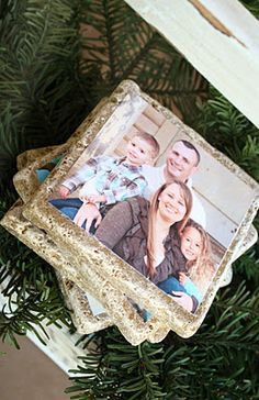 A Diamond in the Stuff: DIY Photo Tile Coasters