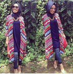 Hulya Aslan kimonos, Hulya Aslan hijab fashion looks http://www.justtrendygirls.com/hulya-aslan-hijab-fashion-looks/