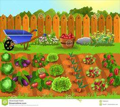 Stock Photo Jardines Diseños Farm Cartoon Vegetable 400 x 300