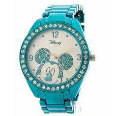 Disney Women's Mickey Mouse Rhinestone Accent Bracelet Watch MK2136