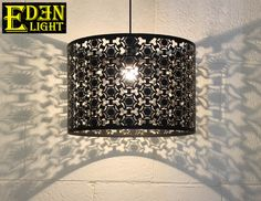 Lamp shade steel shade in Black by nzEDEN LIGHT for sale on Trade Me, New Zealand's auction and classifieds website Lamp, Metal Ceiling, Hanging Lights, Floor Lamp Base, Light Fittings, Light, Pendant Lighting, Lamp Shade, Chrome Ceiling Rose