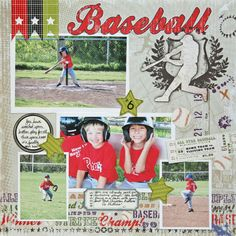 Baseball - Scrapbook.com - This design will make a great soccer page!
