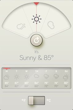 Beautiful design for a weather app // WTHR app
