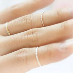 delicate thin rings.