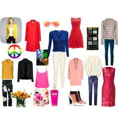 Most of these items are great on Bright Spring colouring. Some are close enough to work. Some will not flatter this woman's natural pigmentations. More here  http://12blueprints.com/comparing-light-and-bright-spring/
