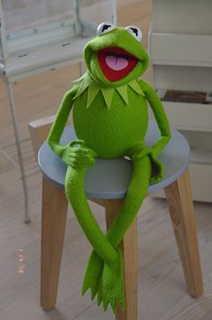 ecl's Kermit the Frog Puppet Replica (using my newest patterns) Funny Kermit Memes, Cartoon Memes, Caco E Miss Piggy, Kermit The Frog Puppet, Frog Wallpaper, Custom Puppets, Frog Drawing, Puppet Patterns, The Muppet Show