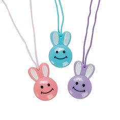 Smile+Face+Bunny+Necklaces+-+OrientalTrading.com