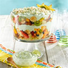 Tropical Fruit Trifle