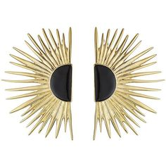 Aurélie Bidermann 18kt Yellow Gold Plated Earrings ($410) ❤ liked on Polyvore featuring jewelry, earrings, gold, gold earrings, aurélie bidermann, aurelie bidermann earrings, polish jewelry and aurelie bidermann jewelry