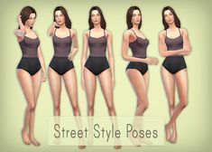 "Well hello again! I got a bit sick of the other poses I've made so I threw together this set. Street Style-fashionblog-inspired kinda. They are CAS poses and replace the ""Commitment Issues"" animation..."
