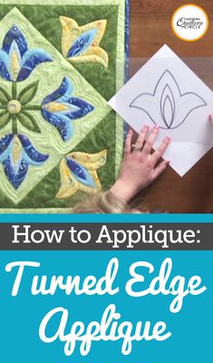 Angie Hodapp talks to you about doing some turned edge applique in this video. Applique Stitches, Applique Quilt Patterns, Hand Applique, Applique Designs, Embroidery Applique, Felt Patterns, Wool Applique Quilts, Machine Applique, Quilting Tips