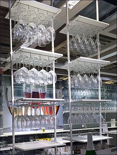 IKEA Ceiling Hung Glassware Merchandising in Retail