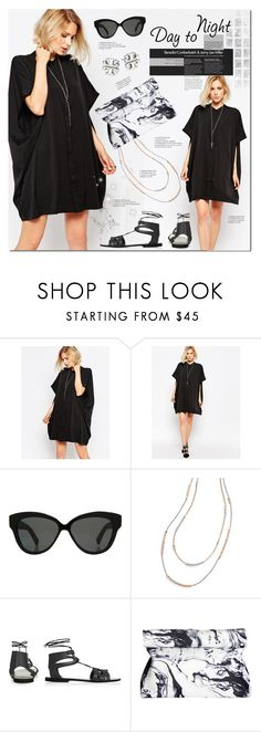 """""""Black Beauty"""" by justlovedesign ❤ liked on Polyvore featuring Religion Clothing, Linda Farrow, Tory Burch, Topshop and DayToNight"""