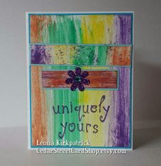 """Handmade Groovy """"Uniquely Yours"""" Card by CedarStreetCardShop on Etsy Handmade Greetings, Greeting Cards Handmade, Friendship Love, Love Cards, Etsy, Art, Hand Made Greeting Cards, Cartas De Amor, Kunst"""