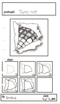 Tore-Up - Zentangle Pattern